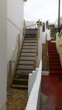 Open riser staircase portreath