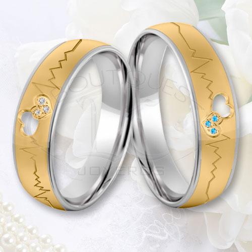 alabanza juntos Abundantemente  Anillos De Oro Y Plata Para Matrimonio