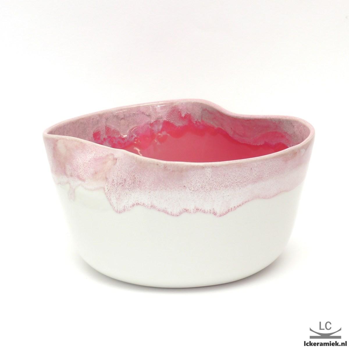 porseleinen schaal roze
