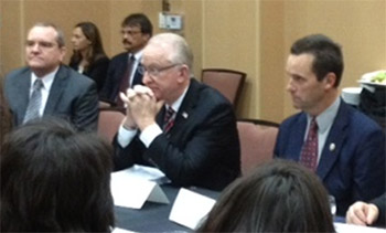 Senator Knight at a roundtable discussion, hosted by Congressman Kevin McCarthy, regarding about the pending federal spending cuts