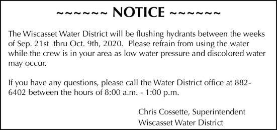 40508 Wiscasset Water Flushing 38.20 gd