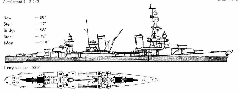 medium resolution of  and notice that the 3 gun turrets are the upper superimposed ones this was actually the first of our washington naval treaty limited