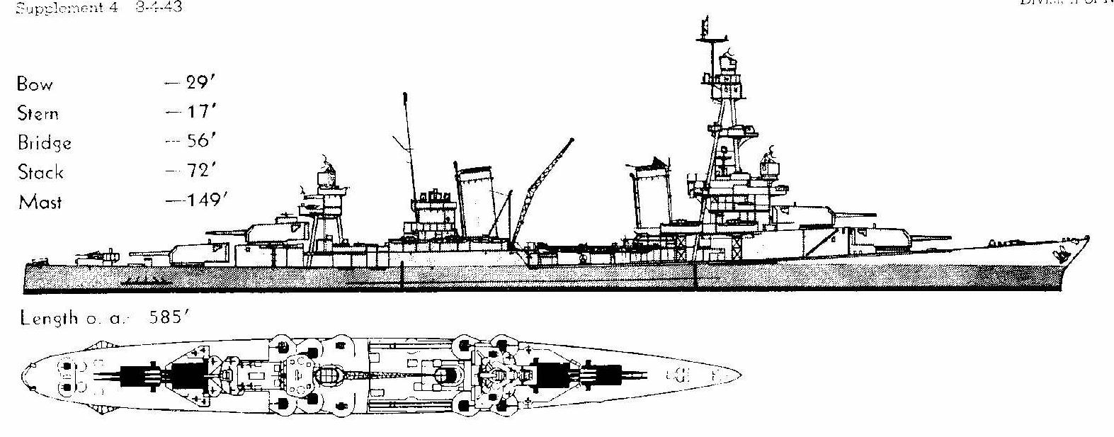 hight resolution of  and notice that the 3 gun turrets are the upper superimposed ones this was actually the first of our washington naval treaty limited