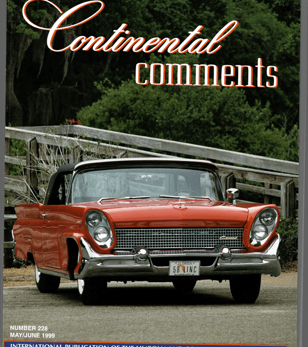 1958 Lincoln Restoration Story with a Happy Ending