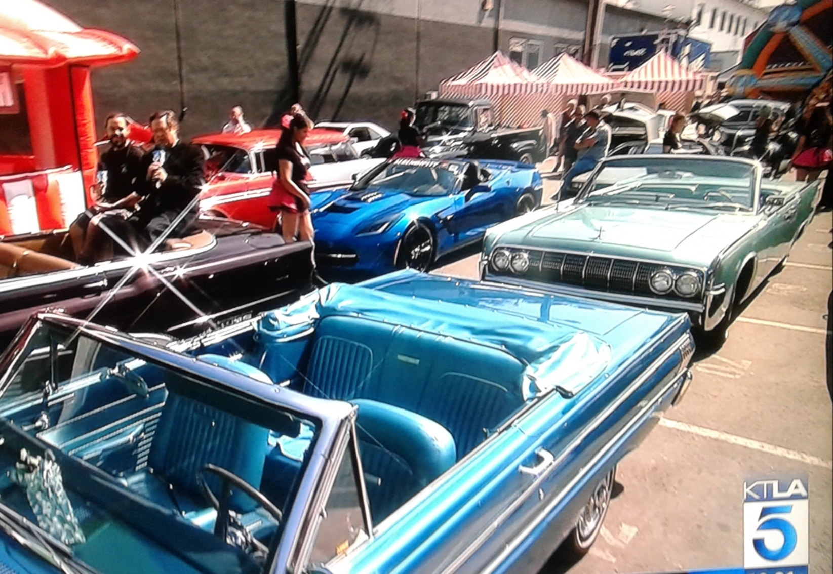 Collector cars at KTLA Movie Preview