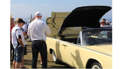 The Lincoln Whisperer cycles the '61 convertible top system.