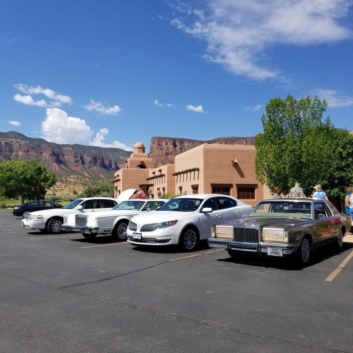 LCOC cars at Gateways Canyons resort.