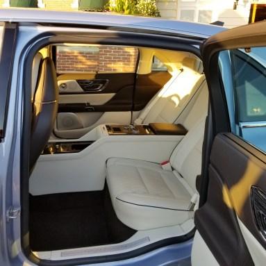 Rear seat luxury.