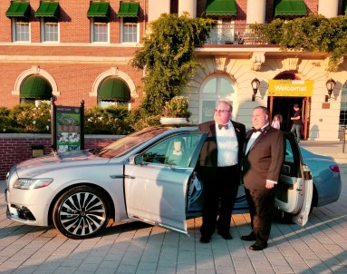 Hoosiers Paul Temple, left, and Jeff Owen admire the Continental.