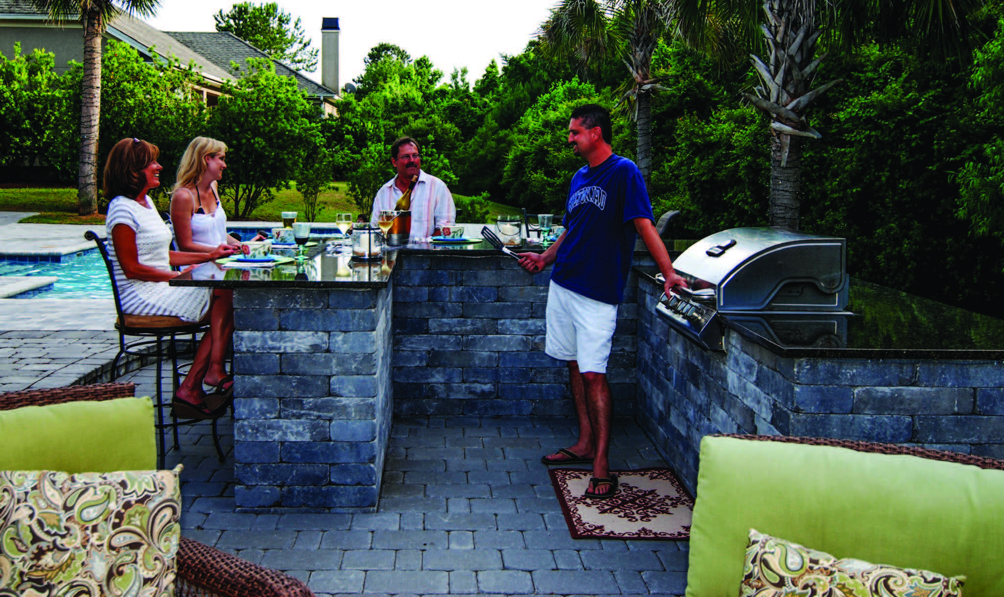 do it yourself outdoor kitchen old fashioned chair step stool lowcountry paver