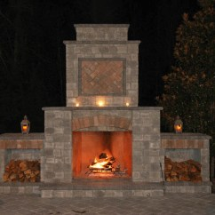 Outdoor Kitchen With Fireplace Wood Islands And Lowcountry Paver