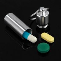 Keychain Pill Holder Aluminum Pill Container - Life ...
