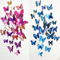 3D Stickers-Butterfly Wall Decor Decals (Set of 12pcs ...