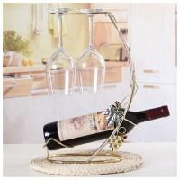 Decorative Wine Bottle And Wine Glass Holder Rack - Life ...
