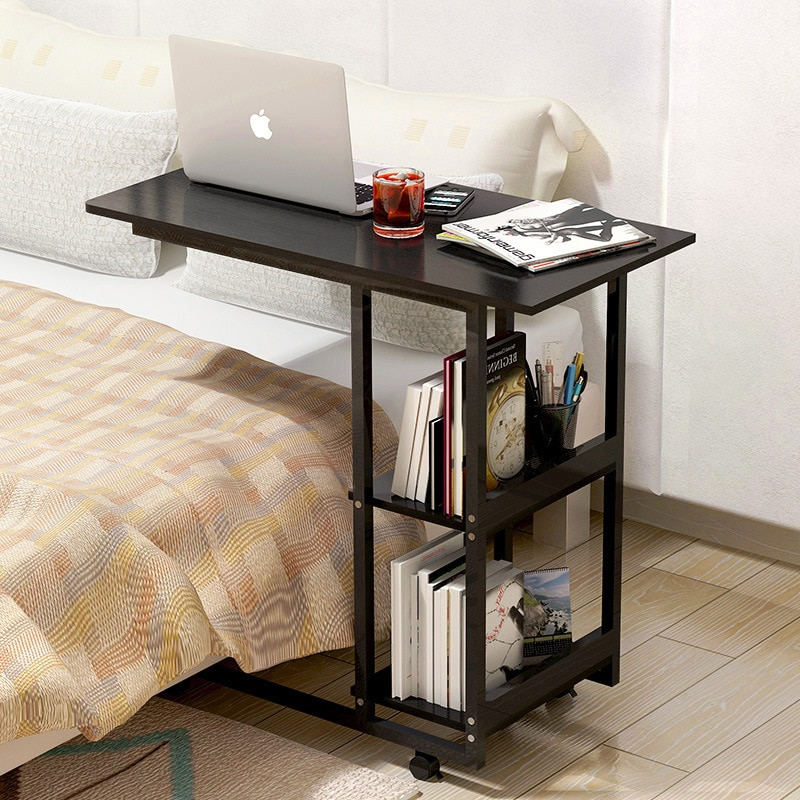 Bed Desk Small Bookshelf Table  Life Changing Products