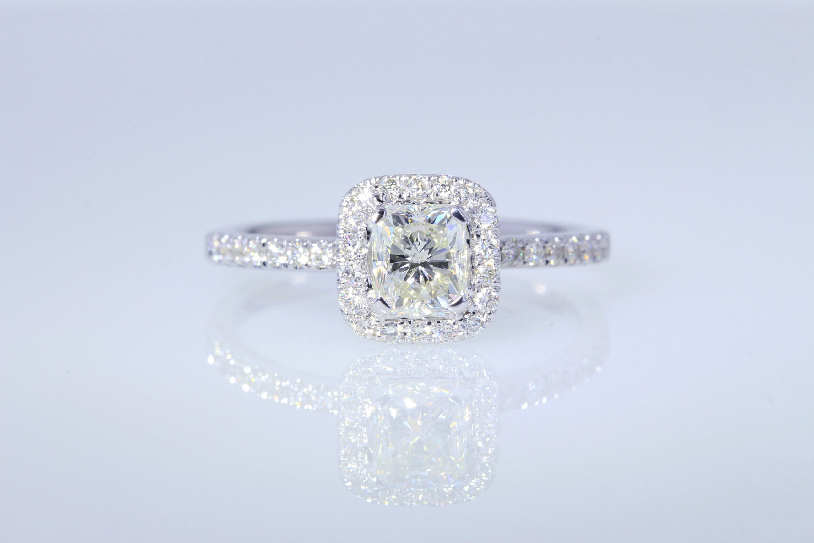 radiant rings cut heirloom engagement london diamond carat