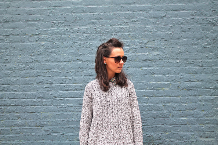 why is started blogging: grey sweater