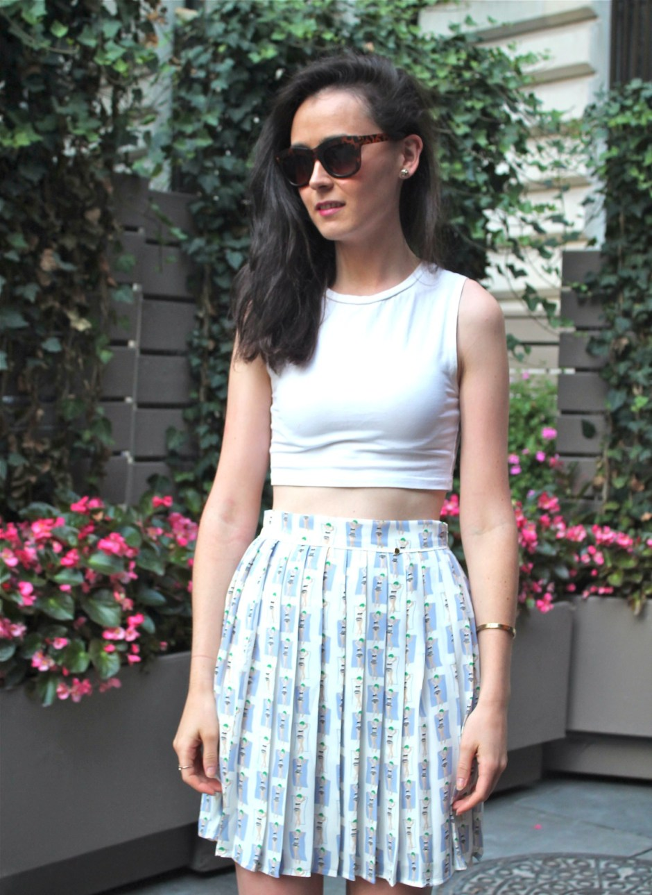 irish fashion: pleated skirt