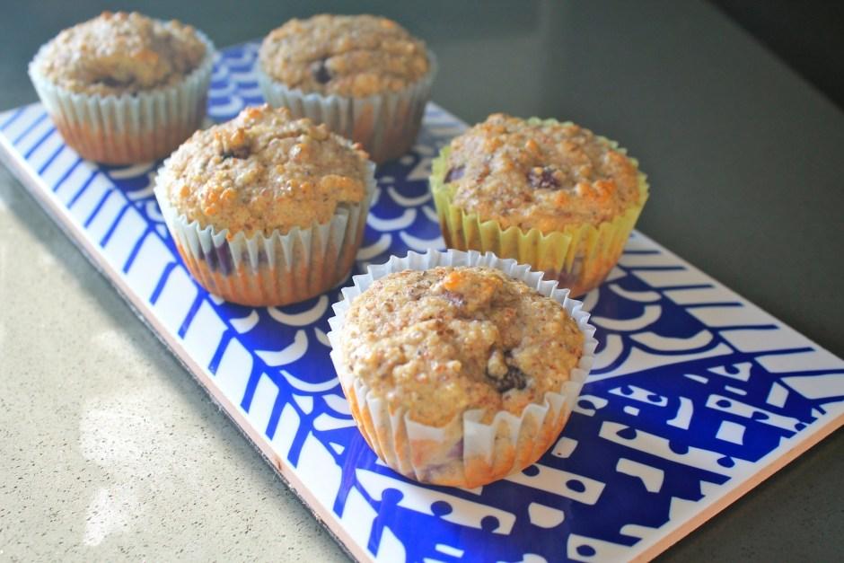 Gluten, dairy and sugar free blueberry muffins 2
