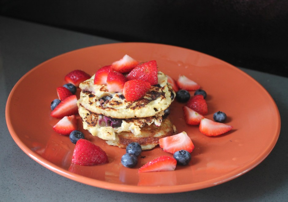 gluten, dairy and sugar free blueberry pancakes 2
