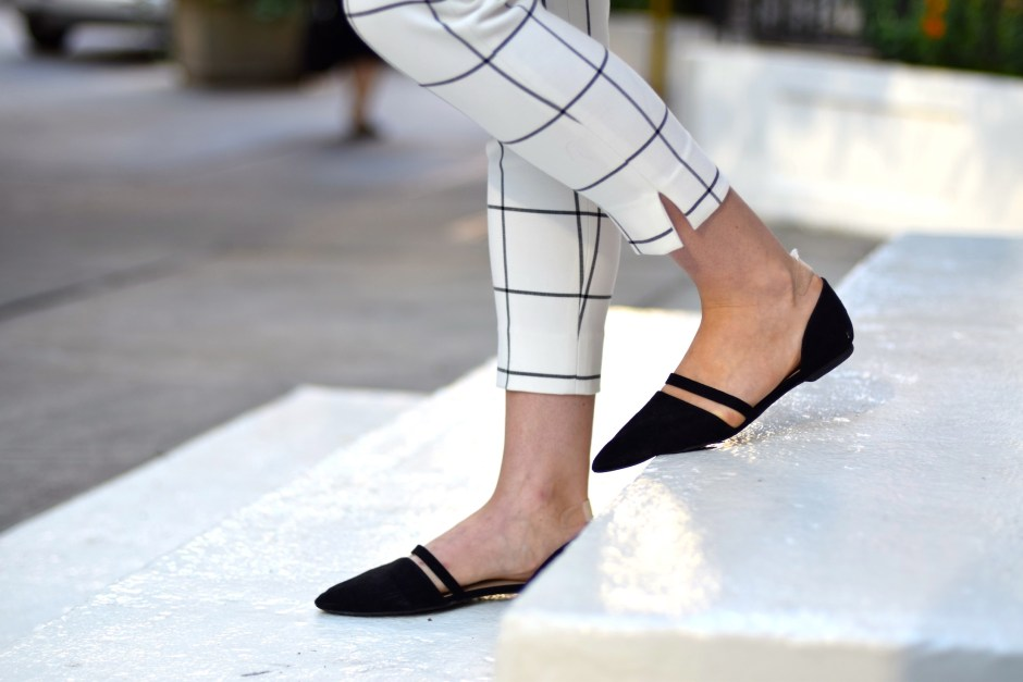 White and black check pants 21