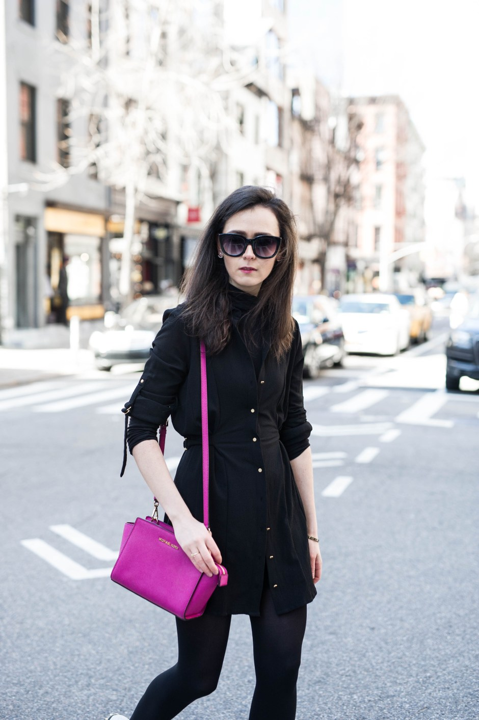 Irish Fashion: Black Shirt Dress