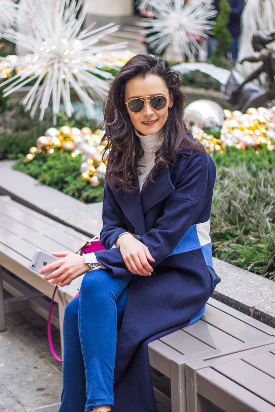 NYC blogger: colour block coat