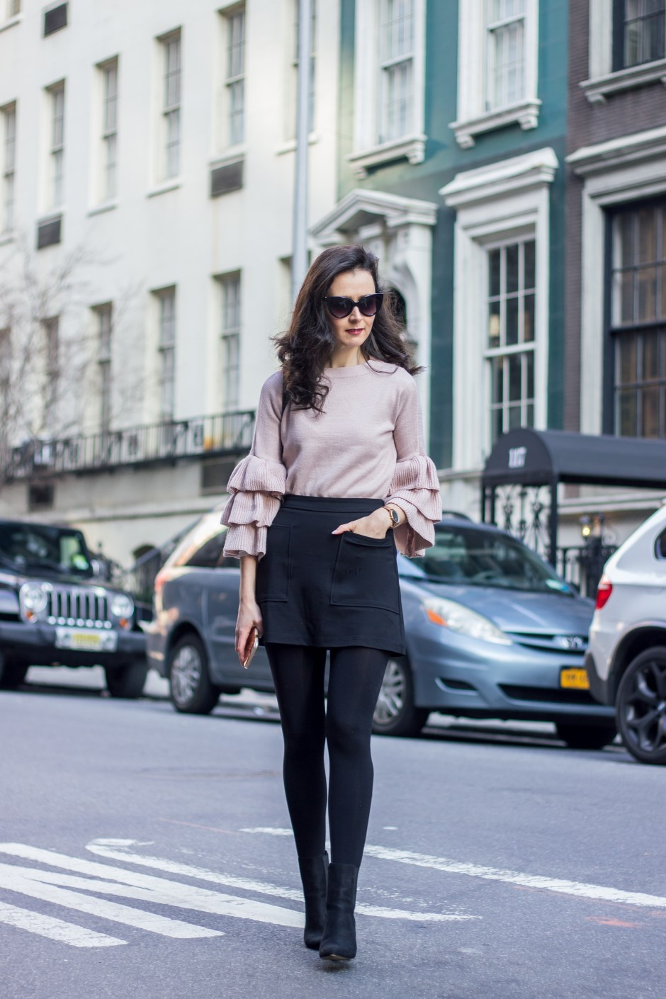 NYC Blogger: Bell Sleeve Sweater 1