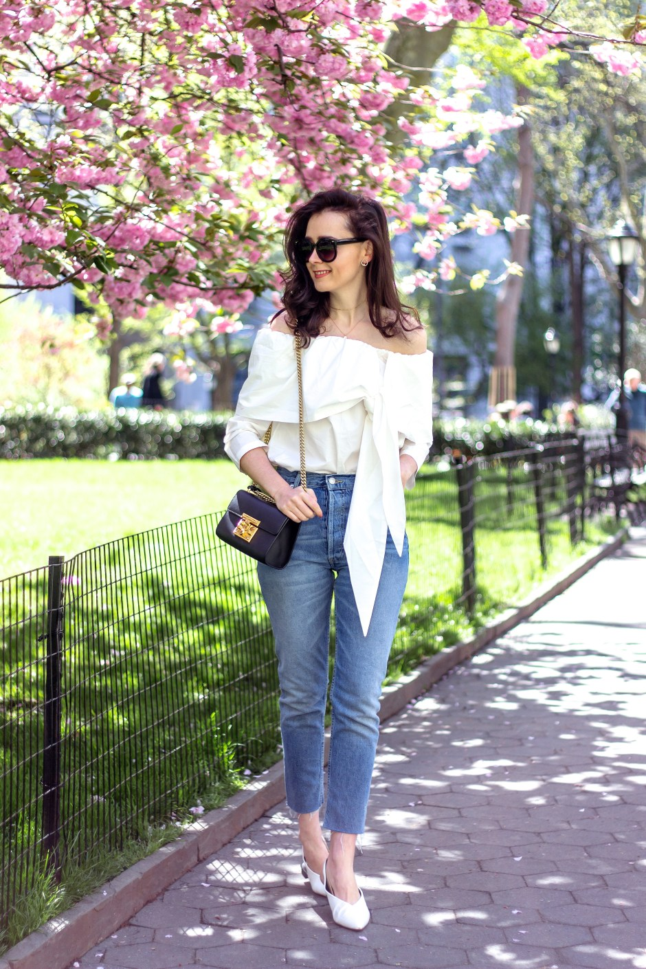NYC Blogger: Off The Shoulder White Top 2