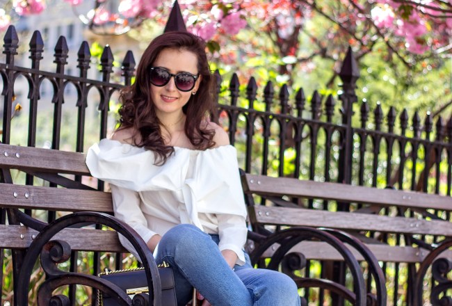 NYC Blogger: Off The Shoulder White Top