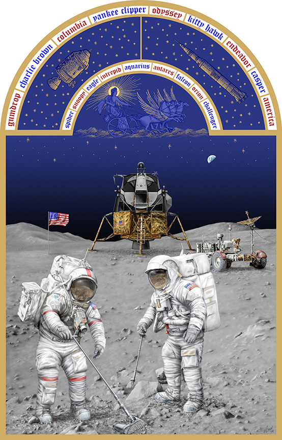 The Astronaut's Book of Hours Series- Apollo To The Moon