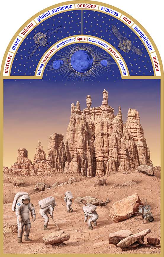 The Astronaut's Book of Hours Series- Life on Mars