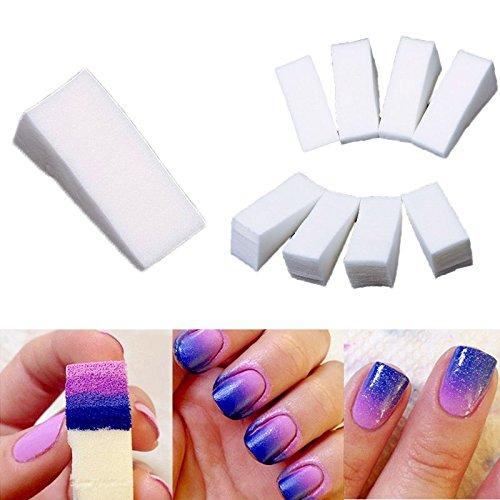 Dealglad® 24pc gradiente unghie morbido Spugne per Manicure Colore Fade creative DIY Nail Art Strumenti Accessori