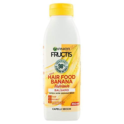 Garnier Balsamo Nutriente Fructis Hair Food, Balsamo nutriente alla banana per capelli secchi, , 350 ml