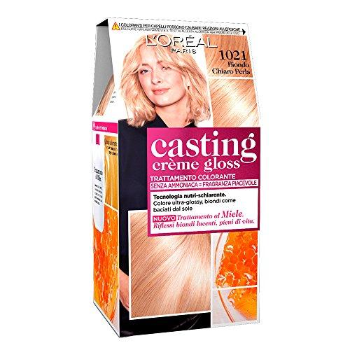 L'Oréal Paris Colorazione Capelli Casting Crème Gloss, Tinta Colore senza Ammoniaca, Fragranza Piacevole, 1021 Biondo Chiaro Perla