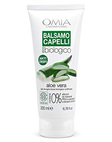 Omia Balsamo per Capelli Eco Bio con Aloe Vera, Balsamo Idratante, 200 ml
