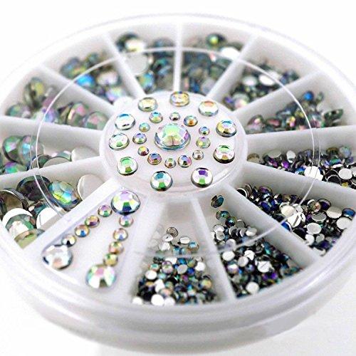 Phantomsky 3D Acrilico Nail Strass Ruota - Diamante Variopinto - Professionale Arte Decorazioni Mix Design Nail Decor Accessori
