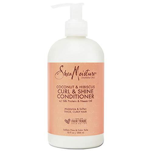 Shea Moisture, Balsamo Curl & Shine per capelli ricci, profumo: Cocco e Ibisco, 384 ml