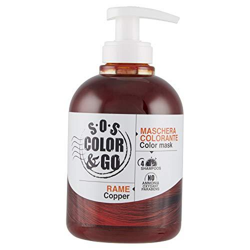 S.O.S COLOR & GO Maschera Colorante Riflesssante e ravvivante Rame 300 ml