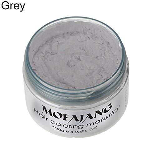 Tinture per capelli clifcragrocl,Moda temporanea unisex fai da te colore dei capelli cera fango colorante crema pomata Salon Tools - grigio