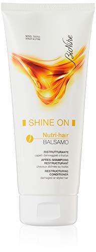 Bionike Shine On Nutri Hair Balsamo Ristrutturante, Formulazione Cremosa a Risciacquo, Ideale per Capelli Danneggiati, Secchi e/o Sfibrati - 200 ml