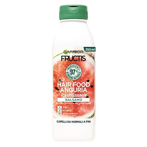 Garnier Fructis Hair Food Anguria Rivitalizzante, Balsamo per Capelli Fini, 97% di Ingredienti di Origine Naturale, Senza Siliconi