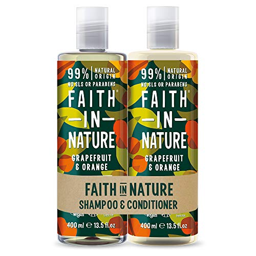 Faith in Nature Shampoo da 400 ml e conditioner 400 ml