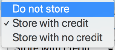 Credit Storage Options