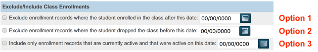 Exclude/Include Class Enrollments