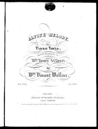 Alpine melody / [sheet music]:Print Material Description