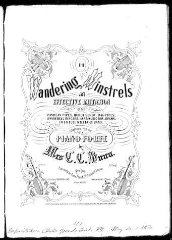 The wandering minstrels / [sheet music]:Print Material