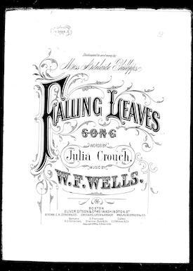 Falling leaves / [sheet music]:Print Material Description
