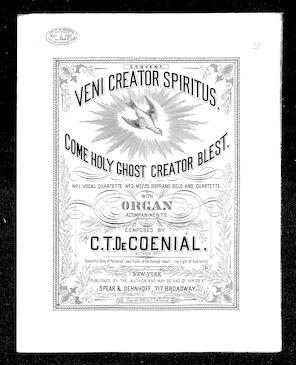 Veni creator spiritus / [sheet music]:Print Material
