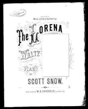 The Lorena waltz / [sheet music]:Print Material
